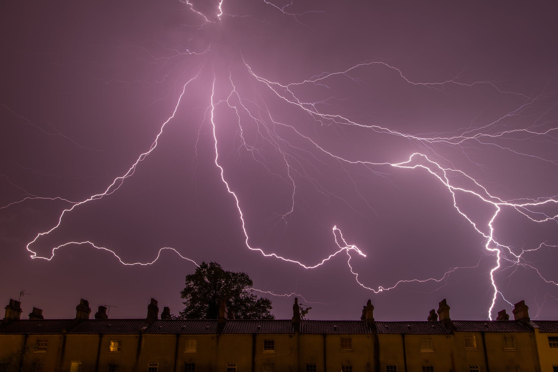 city weather thunderstorm electricity